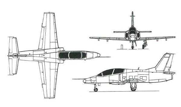 Plan 3 vues du Hongdu JL-8