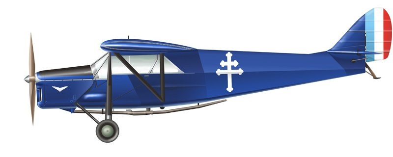 Profil couleur du De Havilland D.H.80 Puss Moth