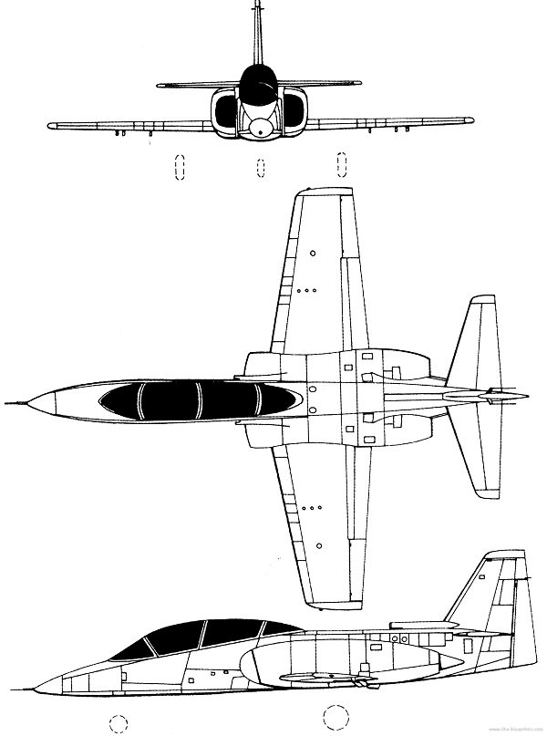 Plan 3 vues du AIDC AT-3 Tsu Chiang