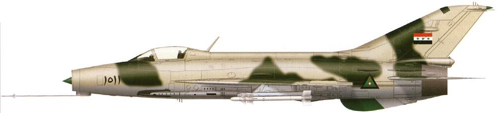 Profil couleur du Chengdu J-7 'Fishcan'