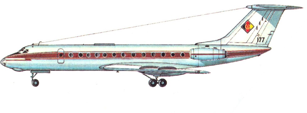 Profil couleur du Tupolev Tu-134 'Crusty'