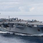 Les navires américains accueillant ou recevant des aéronefs.