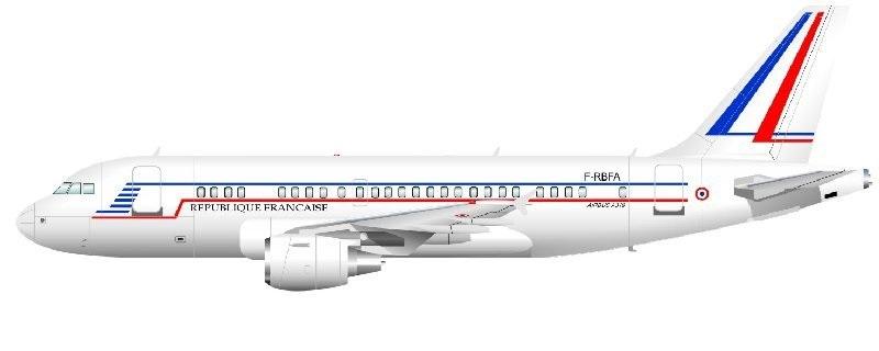 Profil couleur du Airbus A319CJ
