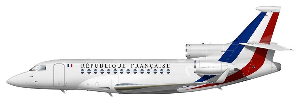 Profil couleur du Dassault Aviation Falcon 7X