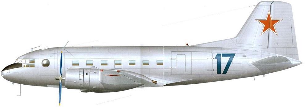 Profil couleur du Ilyushin Il-14 'Crate'