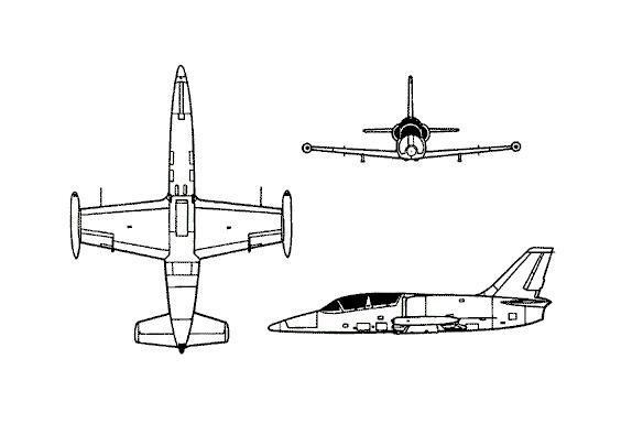 Plan 3 vues du Aero L-59 Super Albatros