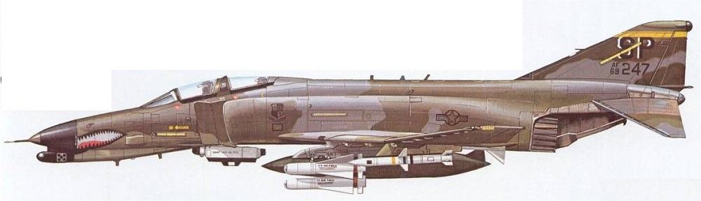 Profil couleur du McDonnell-Douglas F-4G Wild Weasel