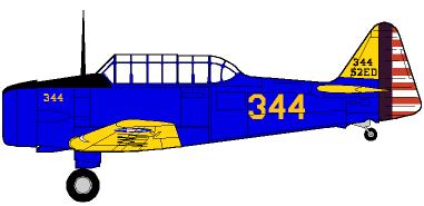 Profil couleur du North American BT-9