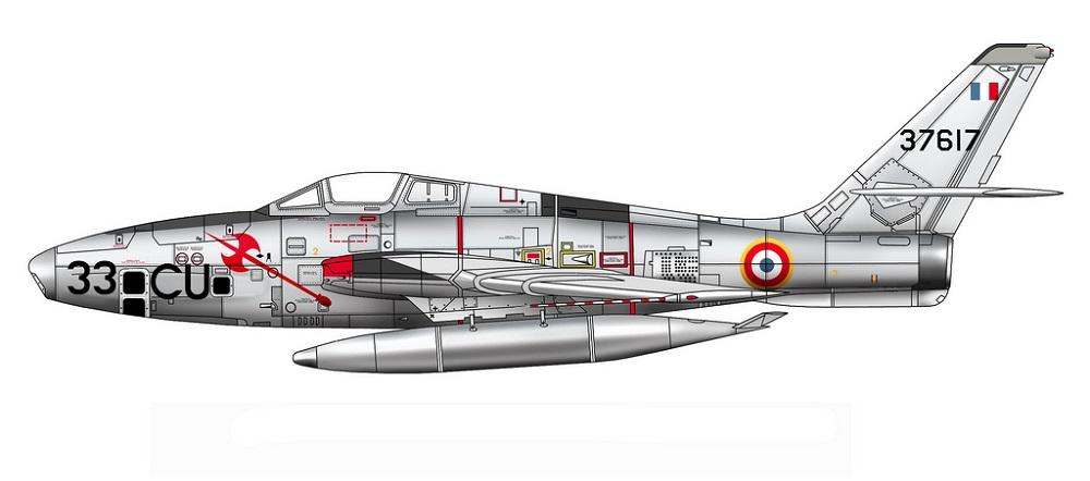 Profil couleur du Republic RF-84 Thunderflash