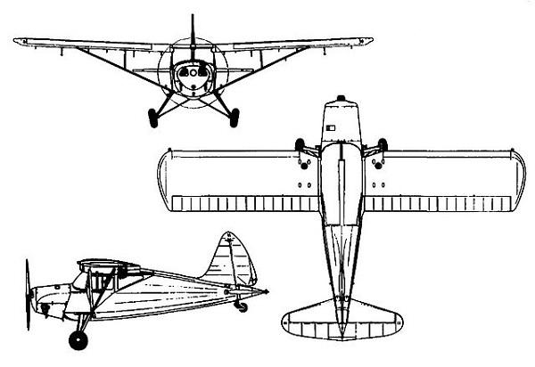Plan 3 vues du S.A.I. KZ VII Lærke