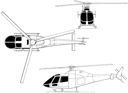 Plan 3 vues du P.Z.L. SW-4 Puszczyk