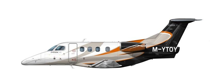 Profil couleur du Embraer EMB 500 Phenom 100