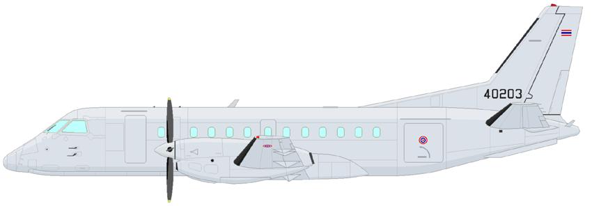 Profil couleur du Saab 340