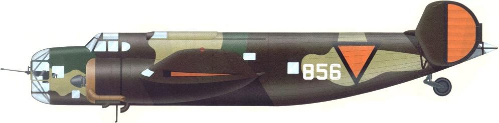 Profil couleur du Fokker T.V