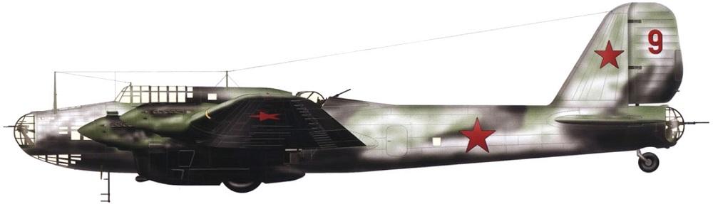 Profil couleur du Petlyakov Pe-8