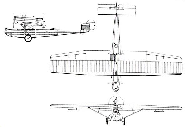 Plan 3 vues du Dornier Do N