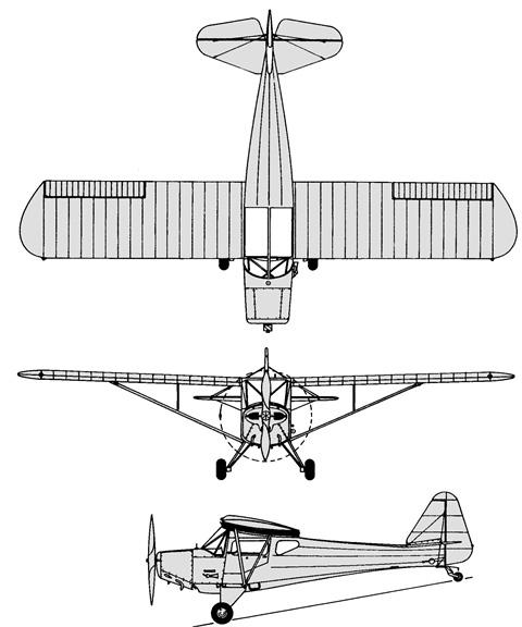 Plan 3 vues du Fleet 80 Canuck