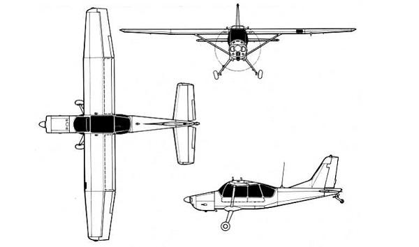 Plan 3 vues du Aermacchi AM.3
