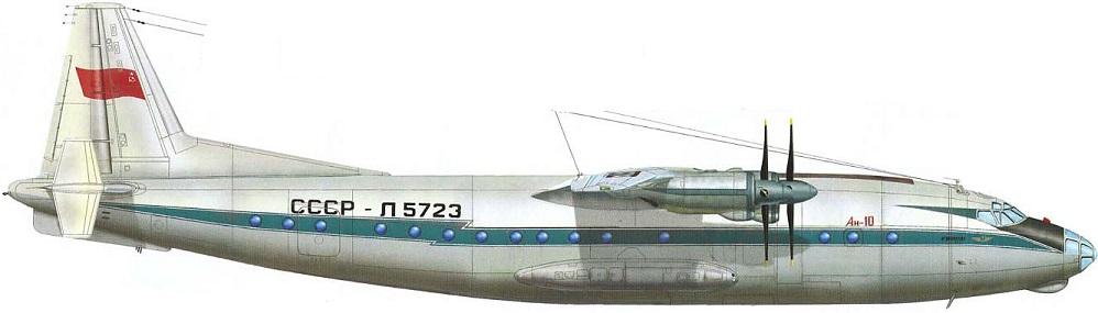 Profil couleur du Antonov An-10 'Cat'