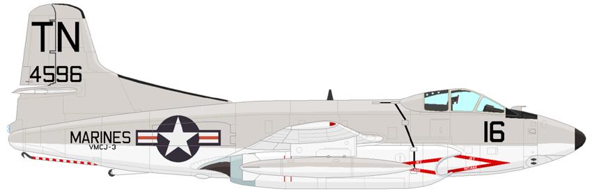 Profil couleur du Douglas EF-10 White Whale