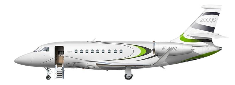 Profil couleur du Dassault Aviation Falcon 2000