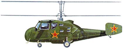 Profil couleur du Kamov Ka-18 'Hog'