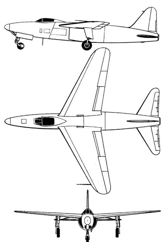 Plan 3 vues du Arsenal VG.90
