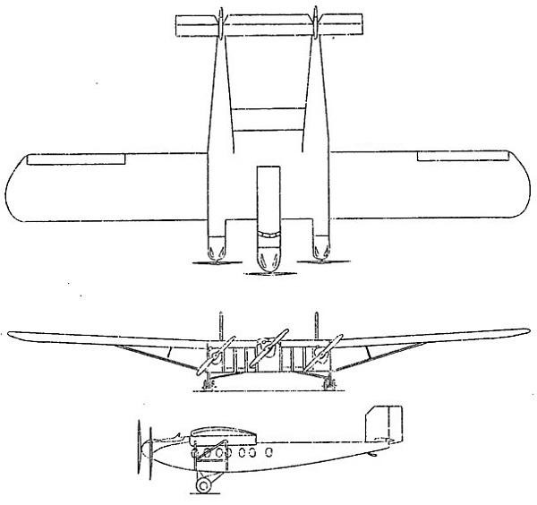 Plan 3 vues du Dyle & Bacalan DB-70