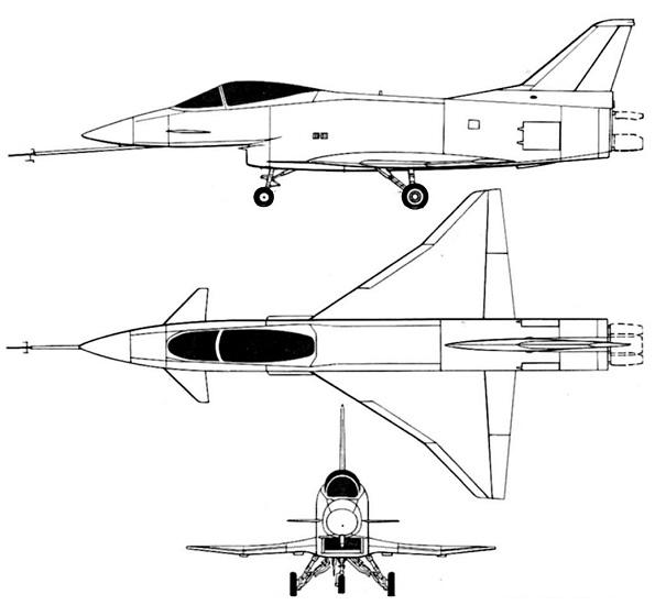 Plan 3 vues du Rockwell / MBB X-31 Vector