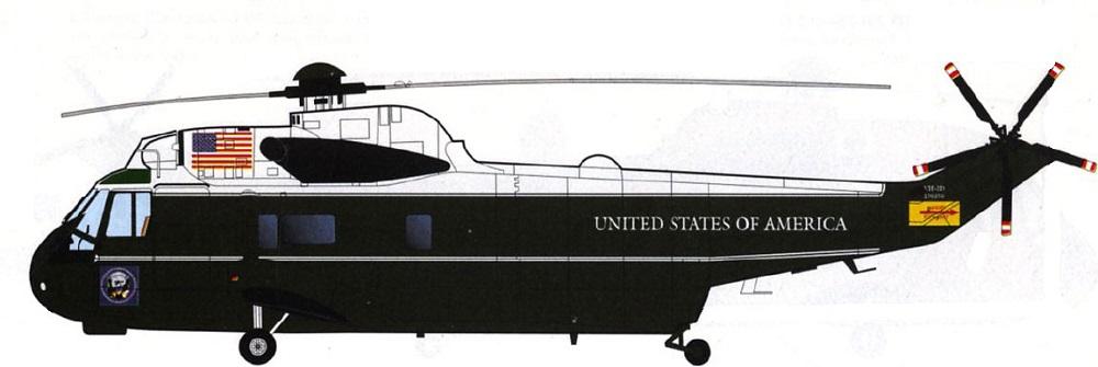 Profil couleur du Sikorsky VH-3 'Marine One'
