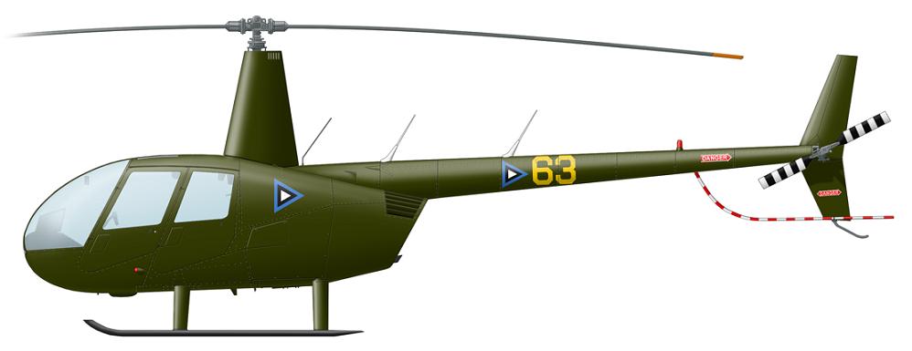 Profil couleur du Robinson R44 Raven
