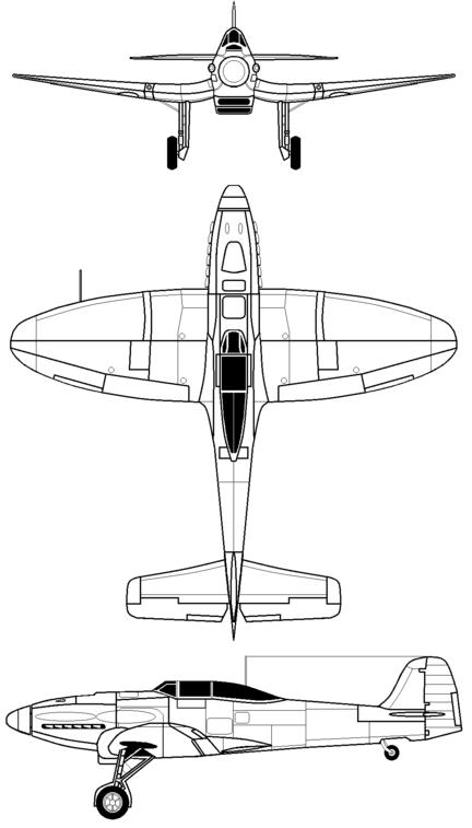 Plan 3 vues du Heinkel He 112