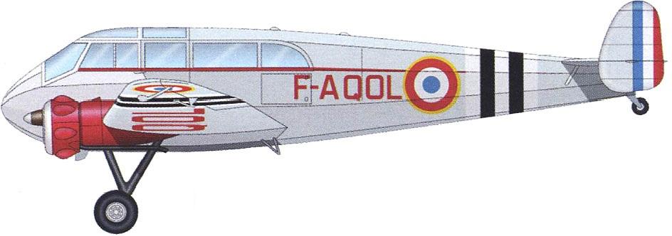 Profil couleur du General Aircraft S.T. Monospar