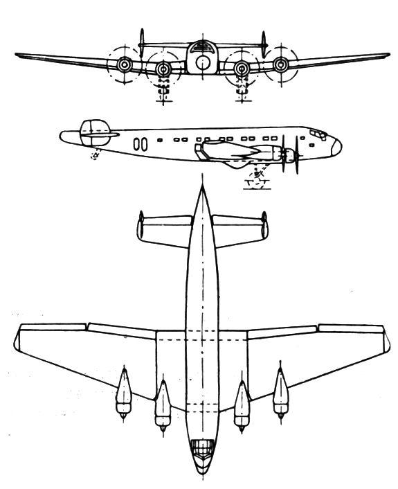Plan 3 vues du Junkers Ju 90