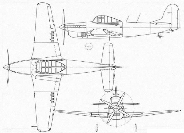 Plan 3 vues du Avro Athena