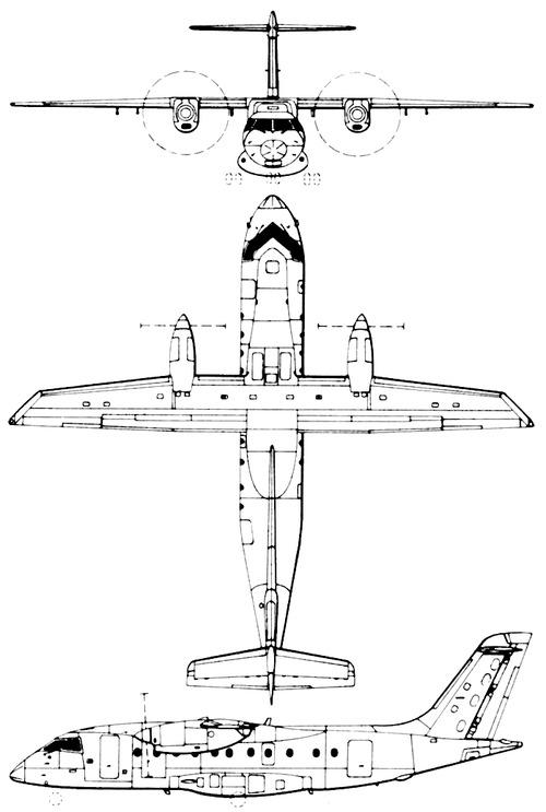 Plan 3 vues du Dornier Do 328