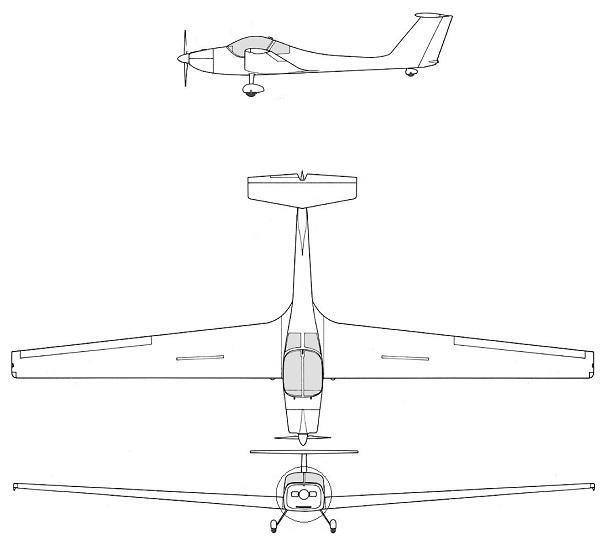 Plan 3 vues du Grob G.109