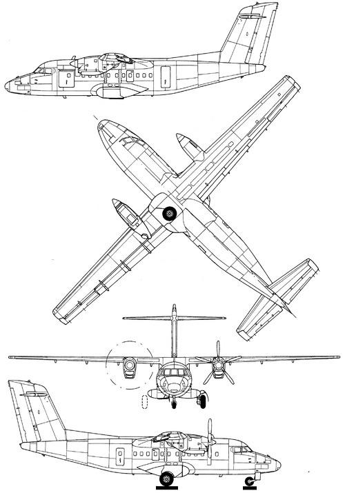 Plan 3 vues du Let L-610