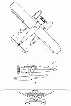 Plan 3 vues du Bellanca Pacemaker
