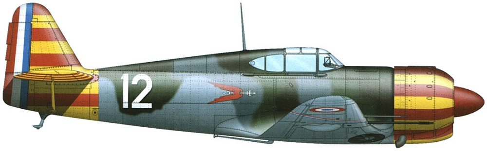 Profil couleur du Bloch MB.155