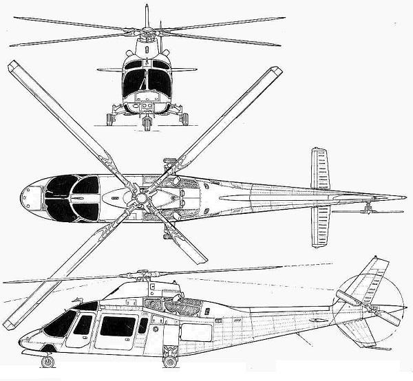 Plan 3 vues du Agusta-Westland AW.109 Power