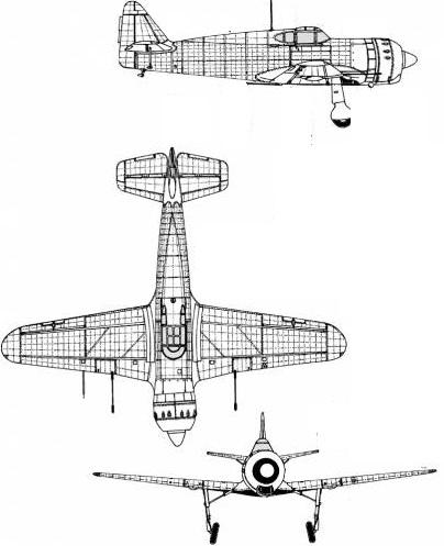 Plan 3 vues du Bloch MB.155