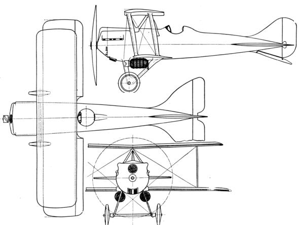Plan 3 vues du Nieuport-Delage Ni-D.29
