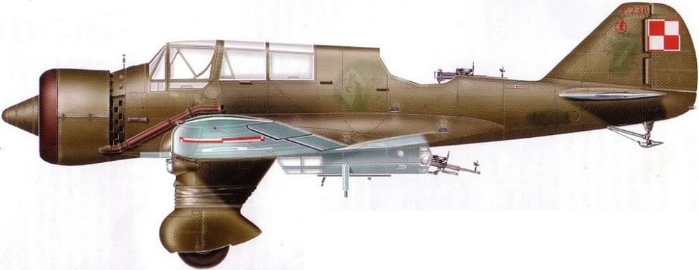 Profil couleur du P.Z.L. P.23 Karaš