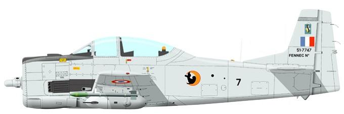 Profil couleur du Sud-Aviation T28 Fennec