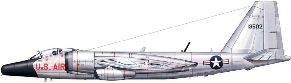 Profil couleur du General Dynamics WB-57 Night Intruder