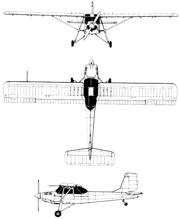 Plan 3 vues du Aero L-60 Brigadýr