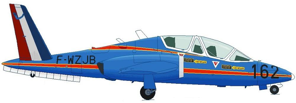 Profil couleur du Aérospatiale CM.90 Fouga 90