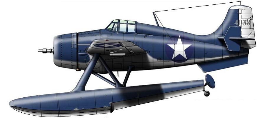 Profil couleur du Grumman XF4F-3S Wildcatfish