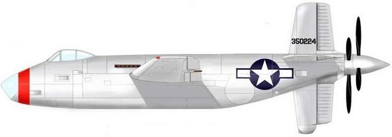 Profil couleur du Douglas XB-42 Mixmaster